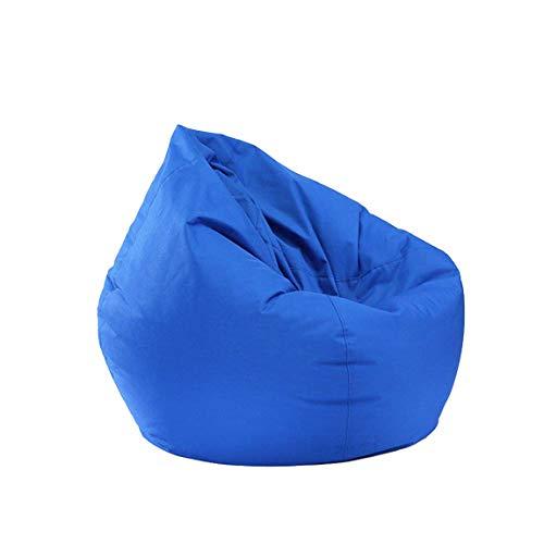 Lazy Lounger Bean Bag Sillas para adultos Niños Bean Bag Storage Silla para animales de peluche Adolescentes Niños Niñas Dormitorio (Azul, 60 X 65cm)