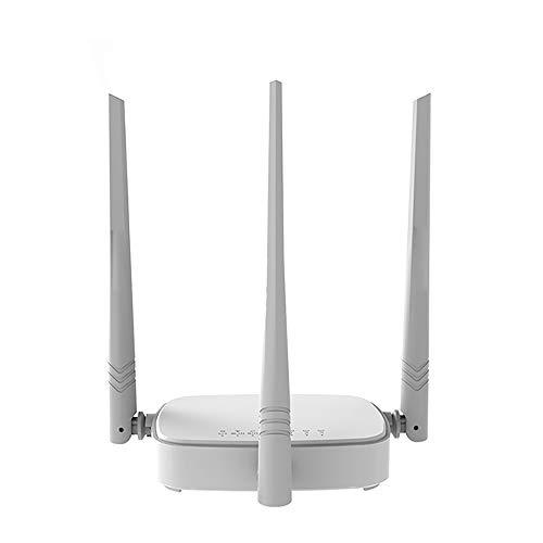 YHML WLAN-Repeater 300 Mbit/S WLAN-Router, Mehrsprachige Firmware, Router- / WISP- / Repeater- / AP-Modus, RJ45 1WAN + 3LAN-Anschluss
