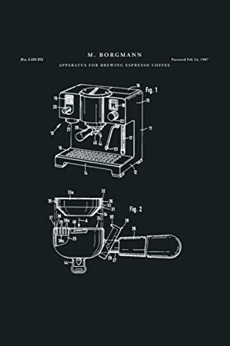 Espresso Machine Patent Kitchen: Notebook Planner - 6x9...
