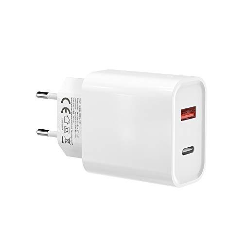 BENSN Quick Charge 3.0 18W QC 3.0 Fast Cargador USB c PD Cargador USB rápido para Phone X/8 Plus 12 11 11 11 Pro Max XS XR X, Huawei, Samsung Galaxy S8 S7 S10 S9 Note 8, Redmi, LG