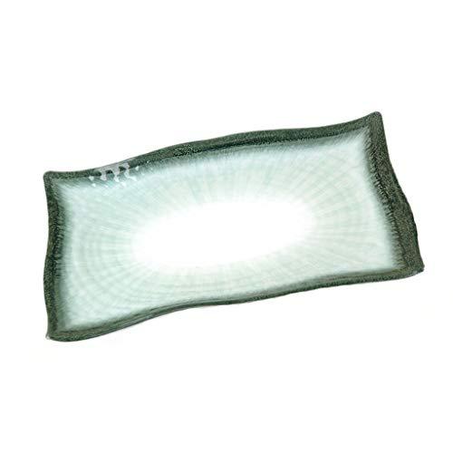 Assiette Matériau en Résine Verte en Forme Design Long 45cm De Fruits De Mer Couleur Vive Grande Moyenne Et Petite Taille (Color : Green, Size : 45 * 31.5 * 3cm)
