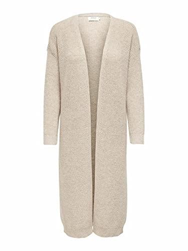 ONLY Damen ONLPARIS Life L/S Long Cardigan EX KNT Pullover, Pumice Stone, M