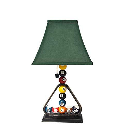 Lámpara de mesa Creative Billar Dormitorio Lámpara de mesa estilo retro Escritorio de la cama Lámpara con cremallera interruptor verde Lino Lámpara Dormitorio Sala de estar Bar Resear Lámpara de Mesit