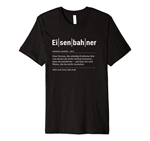 Eisenbahner T-Shirt Lustiges Geschenk Kollege