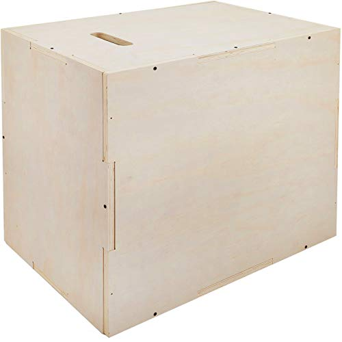 """Happybuy Wood Plyo Box, 30""""x20""""x24"""" Crossfit Boxes Jumping,3 in 1 Wood Plyometric Box, 440lbs Wood Plyometric Box Jump Platforms with Sanded Handles for Jumping Exercise"""