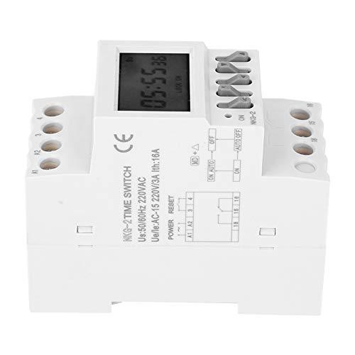 Fácil de instalar Interruptor de temporizador, Temporizador de salida AC-15 220V 3A 220V 50 / 60Hz 1MIN Configuración mínima Tiempo Llama de llama plástico retardante