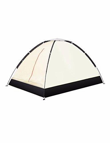SJQKA-tente l'extérieur, 2 personne imperméables, double, le camping couple, lumière beach, intérieur tente pour enfants,- jaune canari