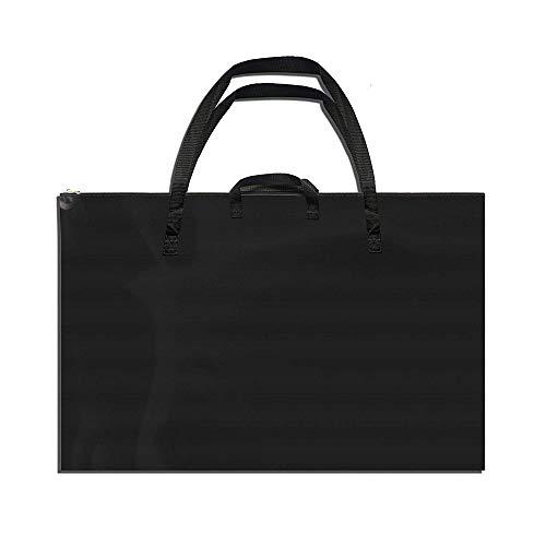 JIUCHANG Large Size Art Portfolio Tote Bag with Nylon Shoulder, Light Weight Waterproof Poster Board Storage Bag, 24'X 37' Student Art Work Portfolio Case, Drawing Painting Sketch Bag