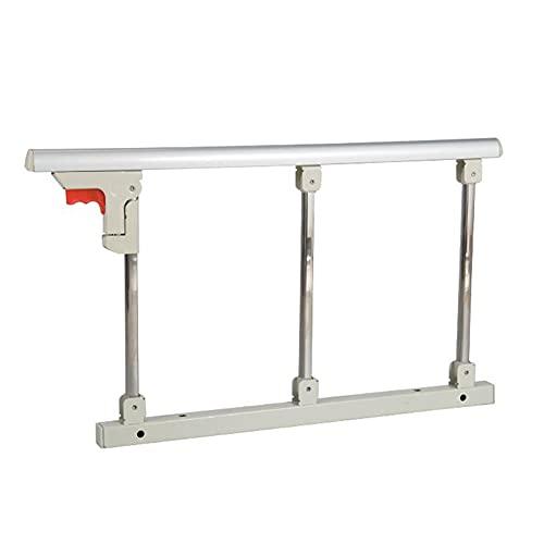 AMSXNOO Bettgitter, Bettsicherheitsbarriere Absturzsicherung, Einfach Installieren Tragbare Bettgitter, Faltbares Metallschutzbett Handlauf Unterstützen für Erwachsene ältere Handicap