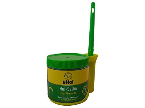 Set Effol Huf - Salbe in grün + Effol Pinsel - Fix - Hufsalbe mit Vaseline und Lorbeeröl 500 ml ein ganzjähriges Pflegeprodukt für hohe Belastbarkeit der Hufe