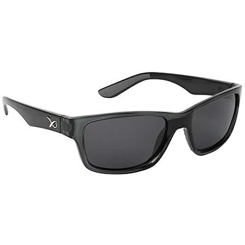 Matrix Fox Gafas de sol polarizadas Casual Trans negro marco gris lente