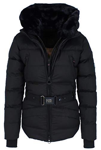 Wellensteyn Mayfair MAYF-859 Gesteppte Damen Winterjacke, Größe:XL, Farben:Blackgrid