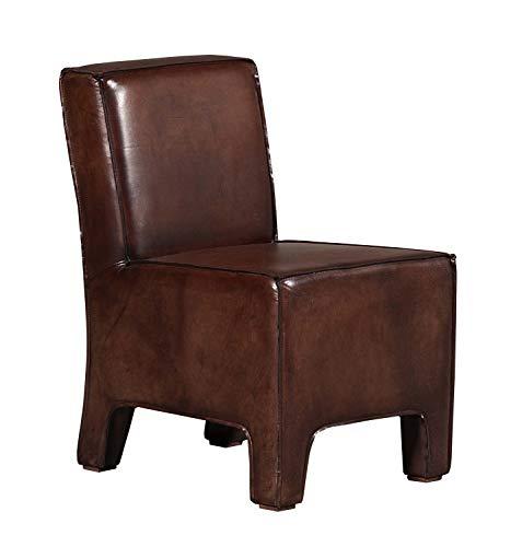 Arteinmotion Sillón Oregon de piel de búfalo color marrón envejecido con costuras de corte vivo
