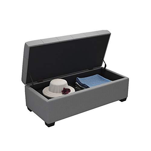 Tabouret de Rangement Banc de Changement de Style européen Banc de canapé Tabouret de canapé GW (Color : Gray, Size : L40×H40×W40cm)