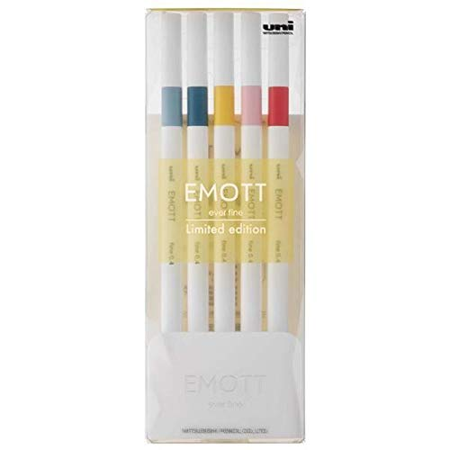 【三菱鉛筆】【数量限定】EMOTT(エモット) 水性サインペン 5色セット SUNUP(朝焼)