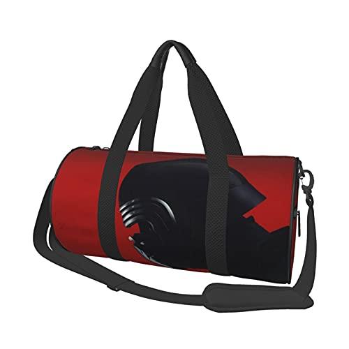 Star of War - Bolsa de viaje redonda para gimnasio, bolsa de viaje para deportes, fin de semana, bolsa de hombro, 17.7 pulgadas x 9 pulgadas