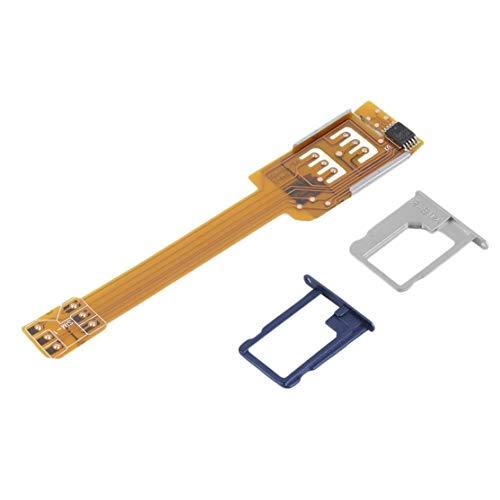 Adaptador de Tarjeta SIM Doble Doble de teléfono móvil Duradero Amarillo Use Dos SIM para Samsung No es Necesario Cortar su Tarjeta SIM Kaemma