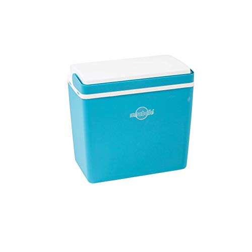 EZetil 10742970 Kühlbox Mirabelle Sun Und Fun für Camping, Urlaub, Reisen und Outdoor Veranstaltungen blau/weiß, 39.3 x 23.3 x 38 cm, 24 Liter