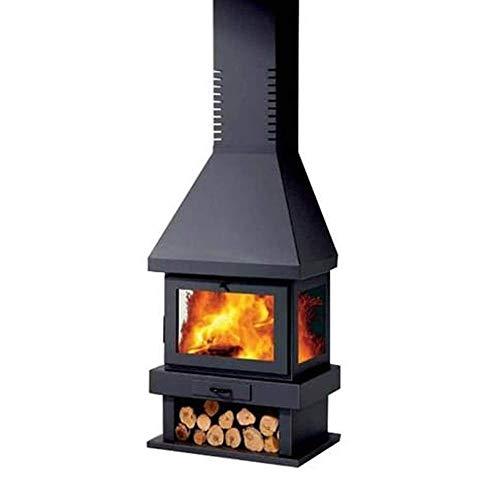 Panadero Camino 12 KW acciaio riscaldamento 240 m3 caminetto stufa CANADA