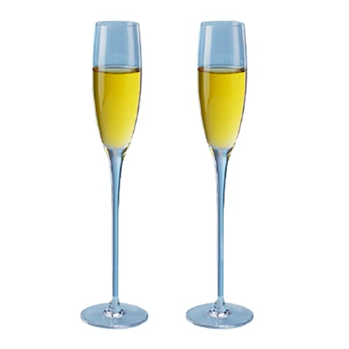 Copa de copa de champán de cristal para tostar, 2 unidades, ideal para fiestas y bodas