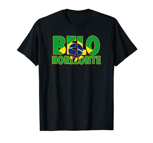 Belo Horizonte Brazil Pride with Flag Camiseta