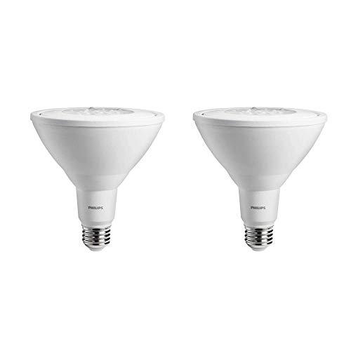 Philips LED Non-Dimmable PAR38 25-Degree Spot Light Bulb: 950-Lumen, 3000-Kelvin, 11-Watt (90-Watt Equivalent), E26 Base, Bright White, 2-Pack