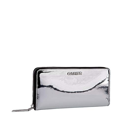 CK MUST LARGE ZIPAROUND SMujerBolsos bandoleraGris (Silver) 2x10x19 centimeters (B x H x T)