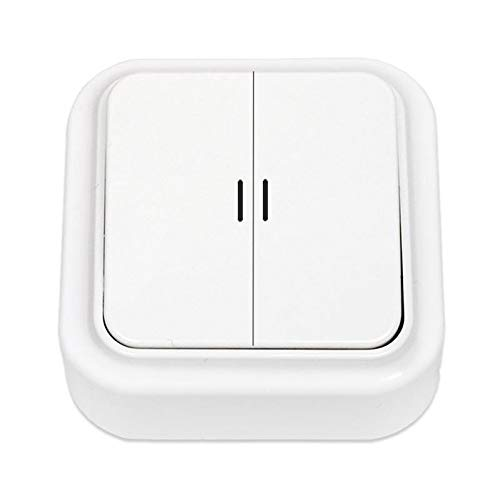 Aufputz Serienschalter Lichtschalter Beleuchtet, IP20 farbe weiß, serie OKKO