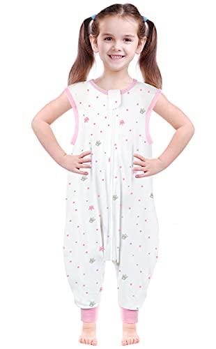 Reinewol Baby Wearable Blanket Sleep Sack,Sleep Bag with Feet Toddler Sleepsack for Girl Boy,Baby Sleeveless Sleep Suit with Zipper,Pink(1TOG,X-Large)