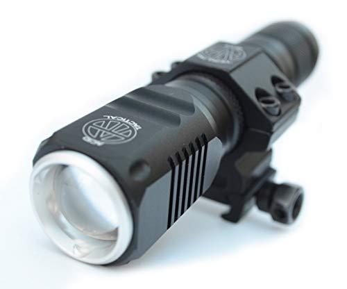 Acid Tactical T6 LED 800 Lumen Flashlight with Picatinny Rifle/Shotgun Mount, Battery, & Charger