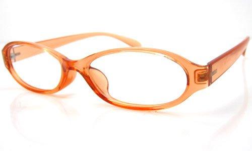 遠近両用メガネ ニコン・ TR クリアオレンジ [全額返金保証]・ 女性用 遠近両用メガネ・ 日本製(瞳孔間距離:66mm, 近用度数:+1.0)