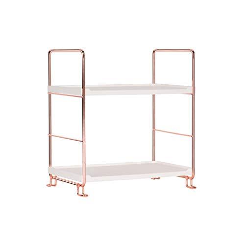 Multifunktions-Regal mit 2 Etagen, stapelbar, Organizer für Gewürze, Küche, Badezimmer