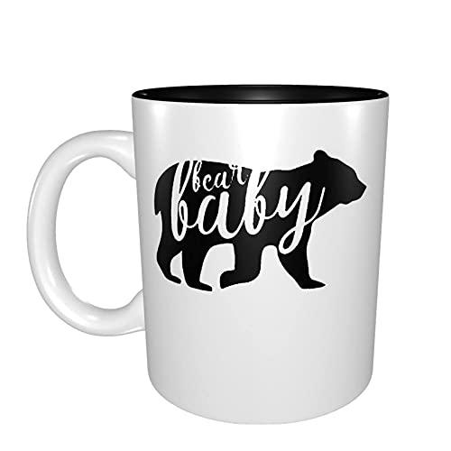 Bear Son Coffee Morning Mug - Taza de cerámica para té de leche (11,Oz)