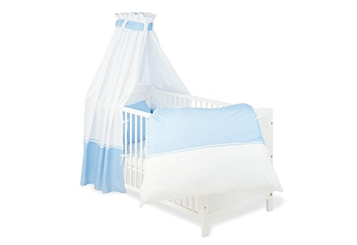 Pinolino - 603892 - Baby Bettset 4-teilig - passend für Gitterbetten der Größe 70 x 140 cm und 60 x 120 cm