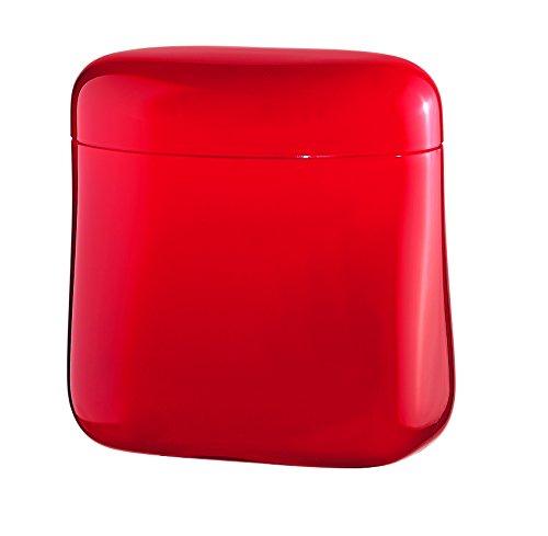 Guzzini Barattolo Caffe Gocce, Rosso Chiaro, 14 x 8.5 x h14.5 cm