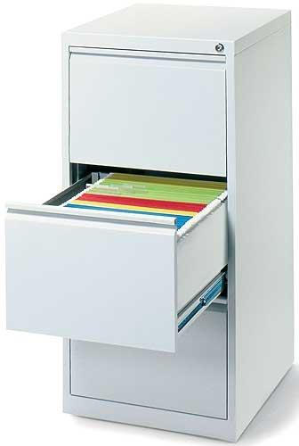Profi Stahl Büro Hängeregistratur Schrank Bürocontainer 1010 x 400 x 620mm (HxBxT) mit 3 Schüben, einbahnig 560310 kompl. montiert und verschweißt
