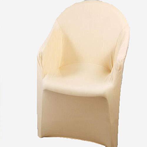 2 stks/partij spandex kussenovertrekken voor fauteuils cover stretch arm stoelhoezen elastische hoes bruiloft stoel cover decoratie, champagne, 83x57 cm