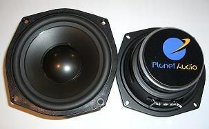 'Planet Audio p5mb, 13 cm (5,25) Haut-Parleur de médium, 50 W RMS, 1 Paire