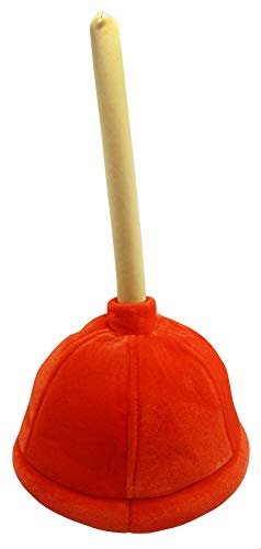Nicky Bigs Novelties Funny Prank Toilet Plunger Hat - Retirement Party Hats - Plumber Costume Accessories - Over The Hill Party Supplies