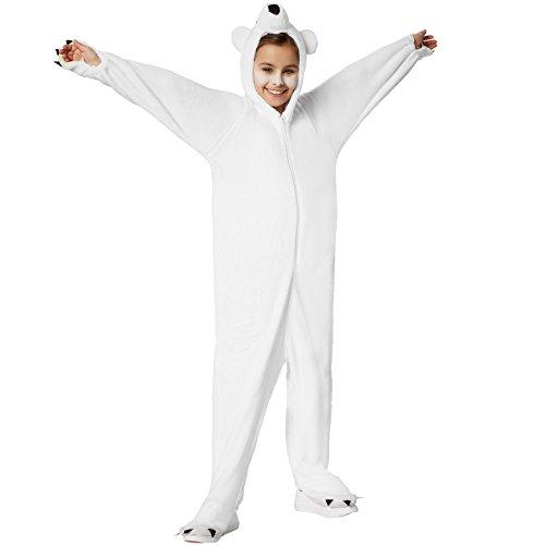 dressforfun 900322 - Disfraz de Oso Polar para Niño, Capucha con Nariz Ojos y Oídos (152 | No. 301554)
