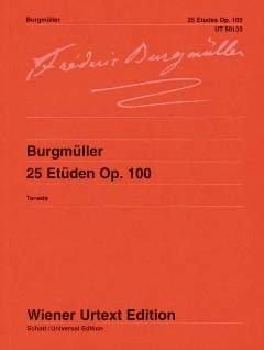 25 ETUEDEN OP 100 - arrangiert für Klavier [Noten / Sheetmusic] Komponist: BURGMUELLER FRIEDRICH
