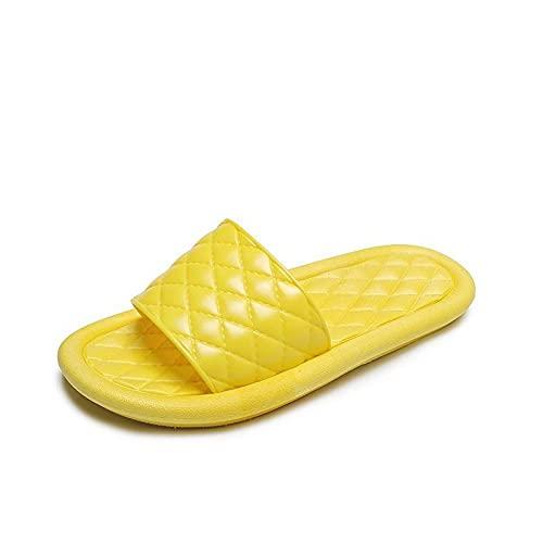 ZZLHHD Quick Drying Bathroom Slippers,Silk slippers, indoor home slippers,-yellow_37,men's sandals