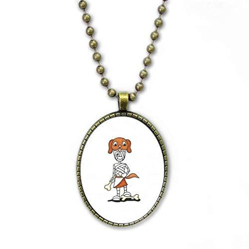 """Ã""""gyptische Mumie Horus Hundehut Halskette Vintage Chain Bead Anhänger Schmuckkollektion"""