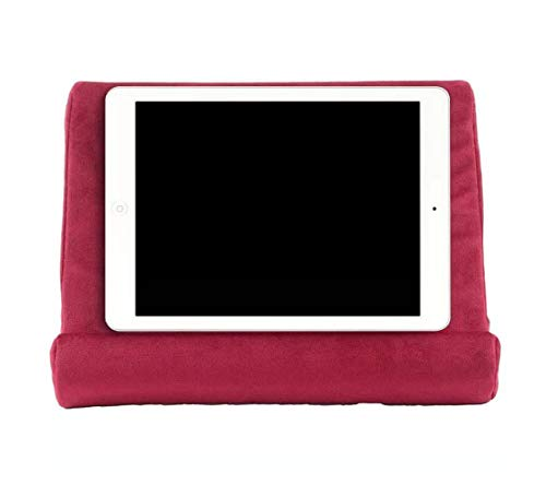 iPad Tablet Stand Pillow Holder - Multi-Angle Soft Tablet Pillow for Lap, Knee, Sofa and Bed - Universal Phone & iPad Stands for eReaders, Magazines, Kindle (Red)