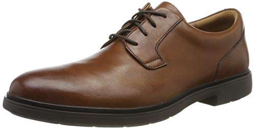 Clarks Herren Un Tailor Tie Derbys, Braun (Tan Leather), 43 EU