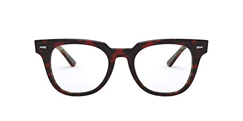 Ray-Ban 0RX5377 Monturas de gafas, Top Trasp Red On Havana Orange, 50 Unisex