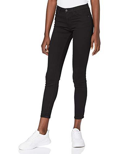 Wrangler Damen Skinny Jeanshose RINSEWASH W28KLX023, Gr. W26/L32, Schwarz (Black)