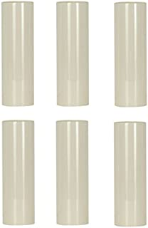 Creative Hobbies 3 Inch Tall Cream Plastic Candle Cover Sleeves Chandelier Socket Covers - Pack of 6 - Slip Over E12 Candelabra Base Sockets