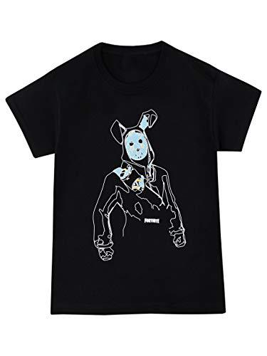 Fortnite Camiseta con el Rabbit Raider para niño [9-11 años] [negro]