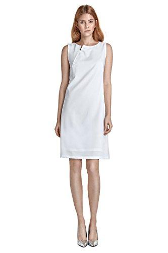 nife - Etuikleid Damenkleid A-Linie Cocktailkleid Sommerkleid Hochzeit Standesamt Ecru Weiß Größe 44